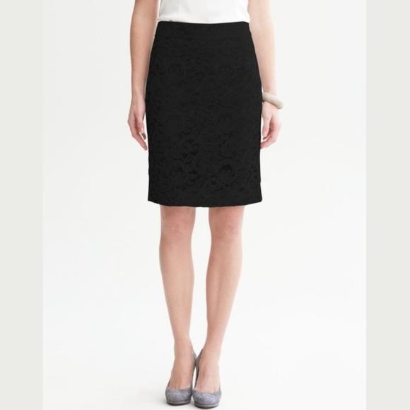 45b9186bf0 Banana Republic Skirts   High Waist Black Pencil Skirt   Poshmark
